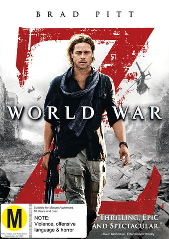 WORLD WAR Z DVD VG