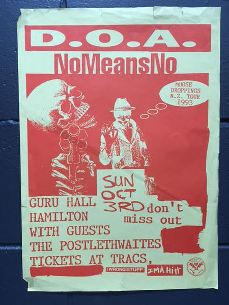 D.O.A. AND NOMEANSNO NZ TOUR POSTER