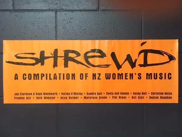 SHREWD-A COMPILATION OF NZ WOMEN'S MUSIC ORIGINAL PROMO POSTER