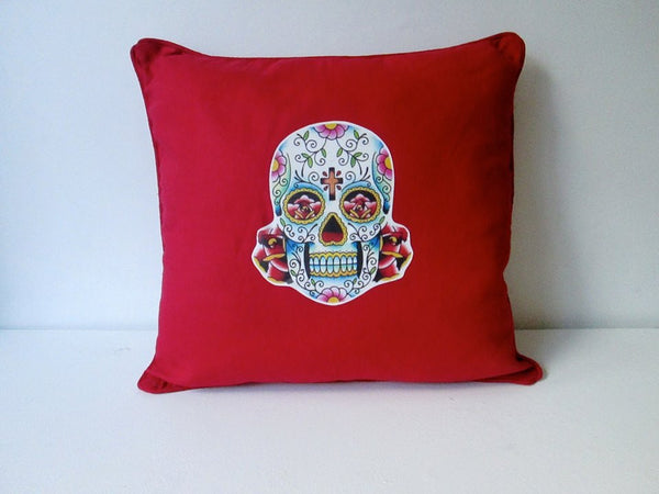 MEXI SKULL CUSHION RED-EYECANDY *NEW*