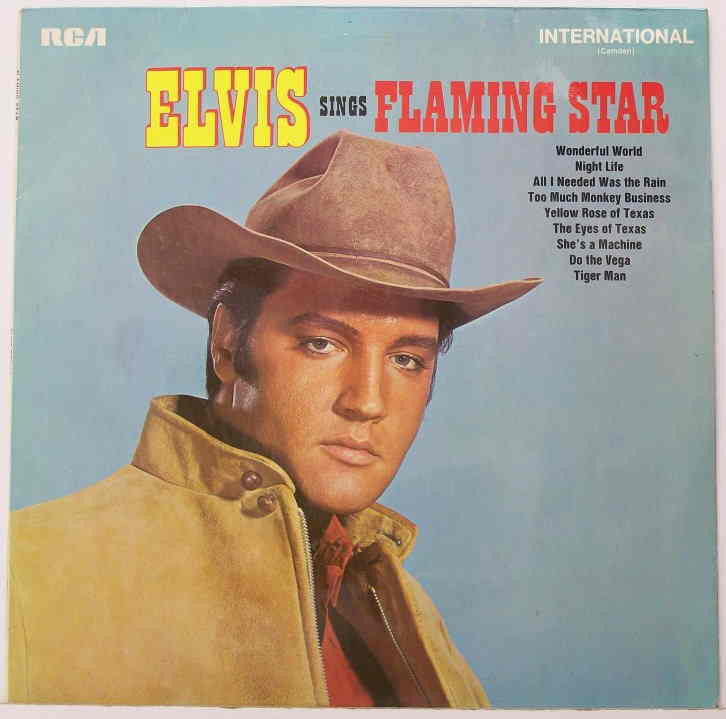 PRESLEY ELVIS-SINGS FLAMING STAR LP VGPLUS COVER VGPLUS