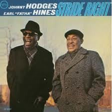 "HODGES JOHNNY & EARL ""FATHA"" HINES-STRIDE RIGHT LP G COVER VG"