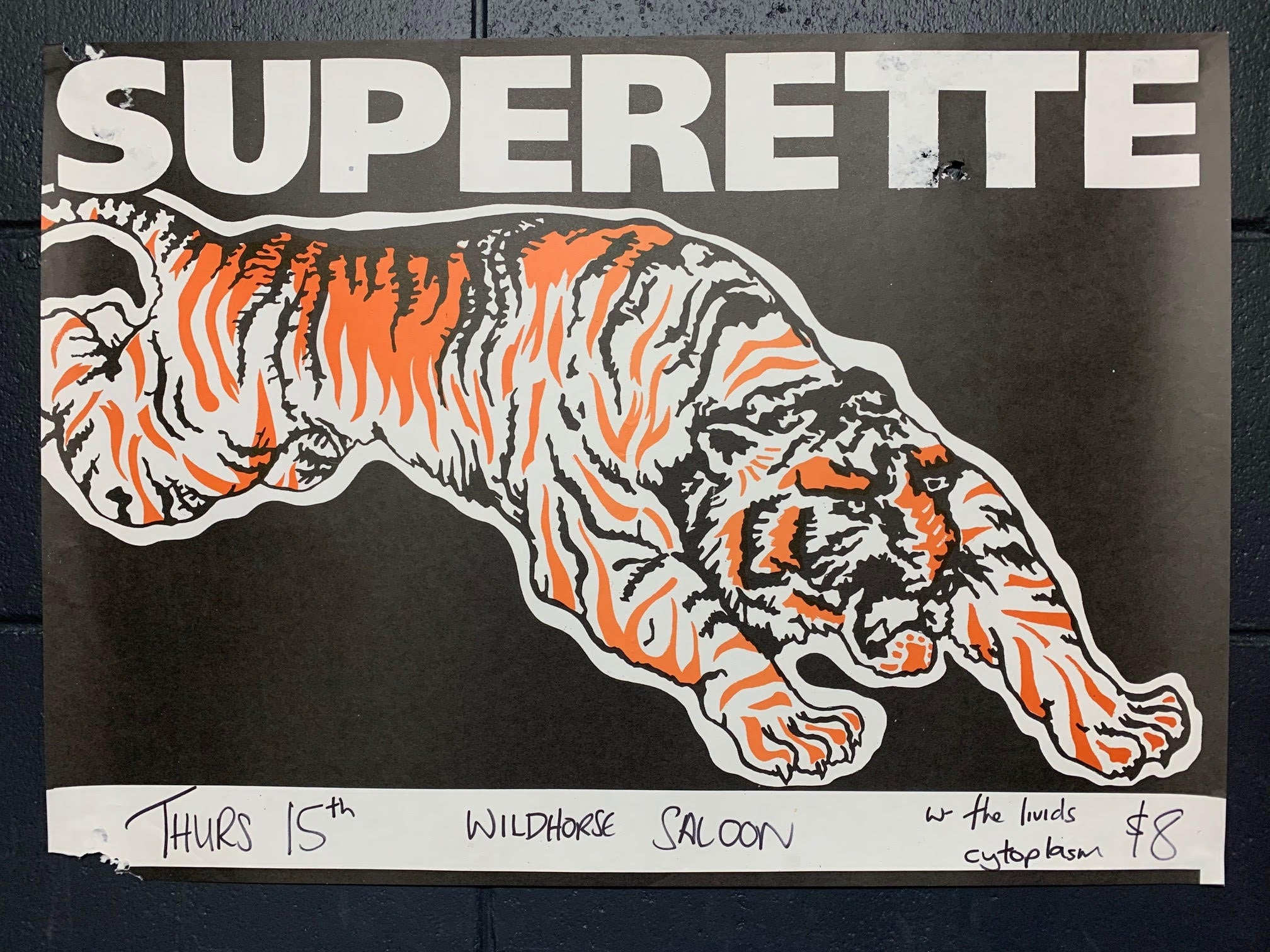 SUPERETTE TIGER ORIGINAL GIG POSTER