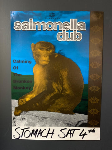 SALMONELLA DUB-CALMING OF THE DRUNKEN MONKEY ORIGINAL GIG POSTER