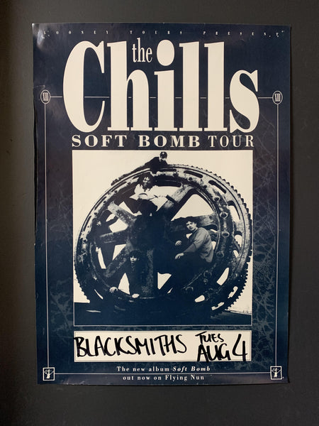 CHILLS THE - SOFT BOMB TOUR ORIGINAL GIG POSTER