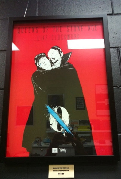 QUEENS OF THE STONE AGE-ORIGINAL PROMO POSTER FRAMED *NEW*