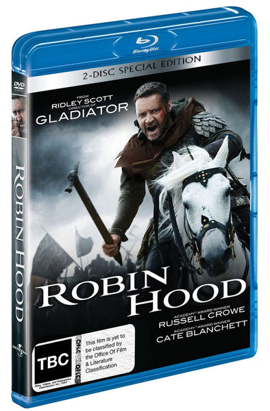 ROBIN HOOD BLURAY + DVD VG+