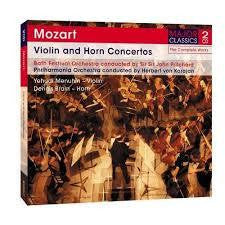 MOZART-VIOLIN AND HORN CONCERTOS 2CDS *NEW*