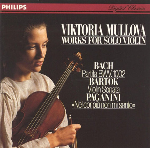 BACH / BARTOK / PAGANINI-WORKS FOR SOLO VIOLIN MULLOVA CD VG