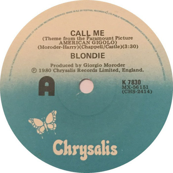 "BLONDIE-CALL ME 7"" VG+"