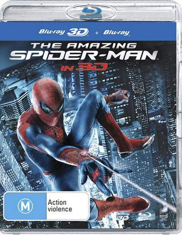 AMAZING SPIDERMAN 3D BLURAY + BLURAY VG+