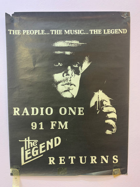 RADIO ONE 91 FM THE LEGEND RETURNS ORIGINAL POSTER