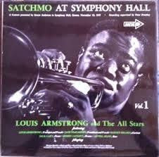 ARMSTRONG LOUIS-SATCHMO AT SYMPHONY HALL VOL.1 LP VG VG