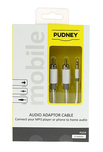 PUDNEY-3.5MM TO 2RCA 2MTRS *NEW*