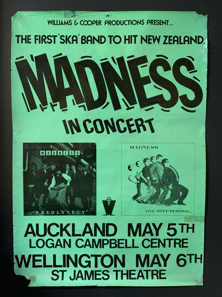 MADNESS IN CONCERT - ORIGINAL 1981 NZ TOUR POSTER