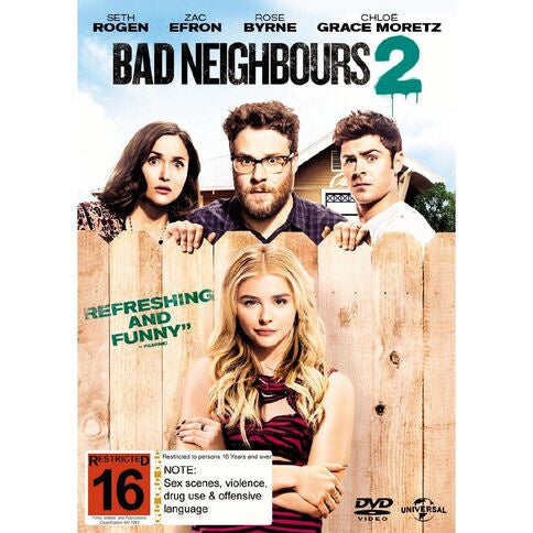 BAD NEIGHBOURS 2 DVD VG+