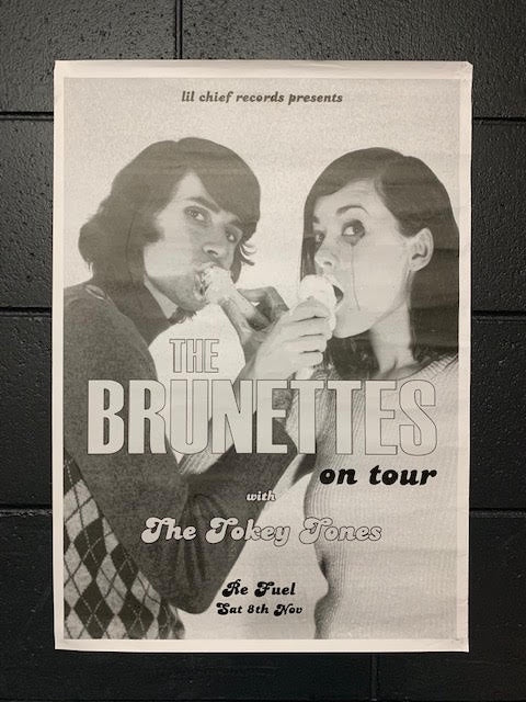 BRUNETTES ON TOUR WITH THE TOKEY TONES ORIGINAL GIG POSTER