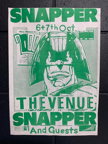 SNAPPER-THE VENUE GREEN ORIGINAL GIG POSTER