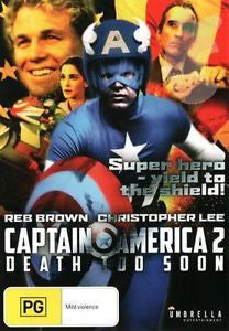 CAPTAIN AMERICA 2 DEATH TOO SOON 1979 REGION 4 DVD VG