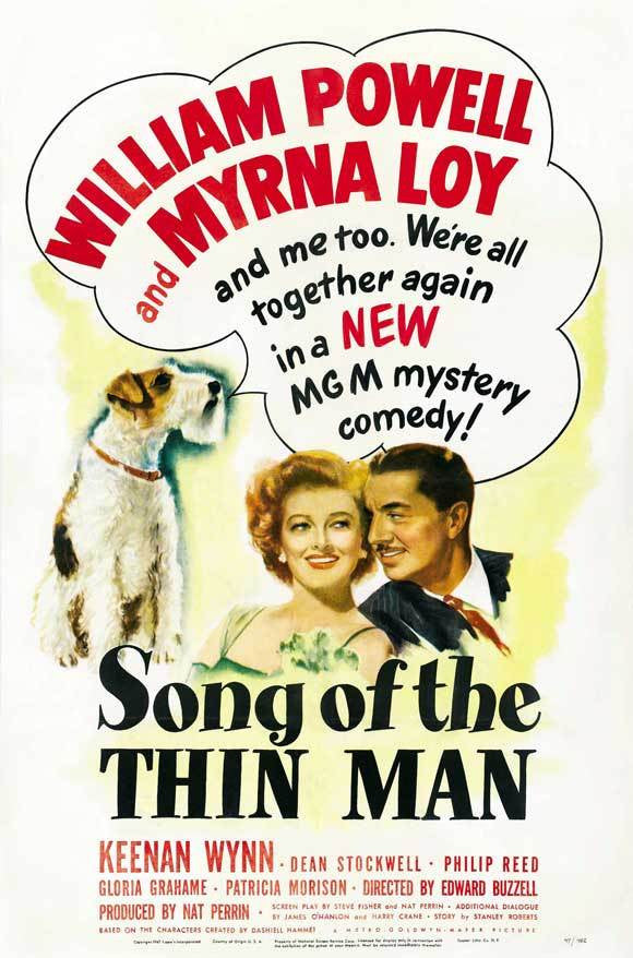 SONG OF THE THIN MAN REGION 2 DVD VG