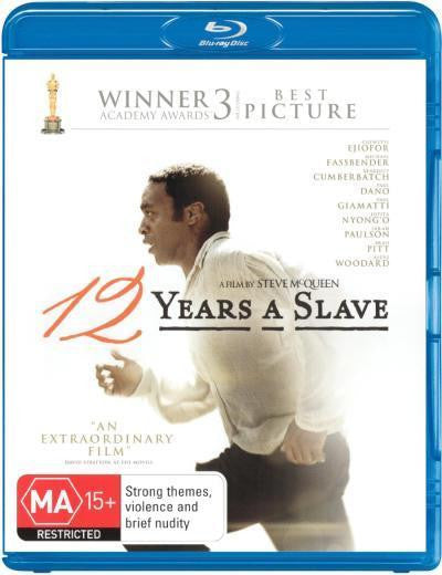 12 YEARS A SLAVE BLURAY VG+