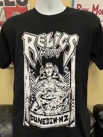RELICS BLACK T SHIRT DESIGNED BY RATT 2020 3XL-LARGE *NEW*