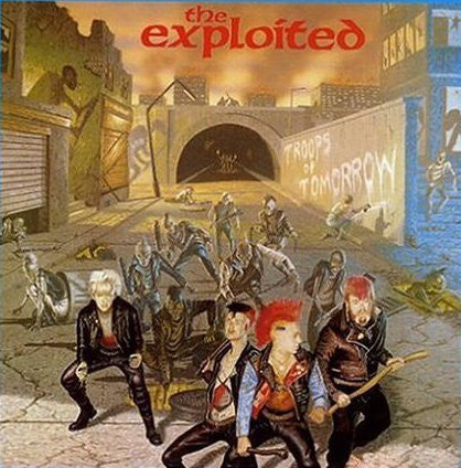 EXPLOITED THE-TROOPS OF TOMORROW LP VGPLUS COVER VGPLUS