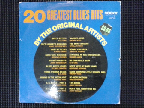 20 GREATEST BLUES HITS-VARIOUS ARTISTS G COVER VG
