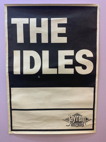 IDLES THE (1980s DUNEDIN NZ BAND) ORIGINAL  GIG POSTER