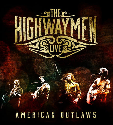 HIGHWAYMEN THE-LIVE AMERICAN OUTLAWS 3CD + DVD VG
