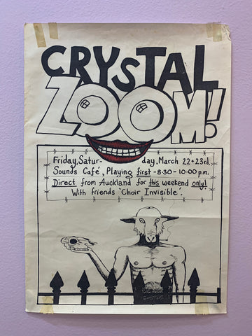 CRYSTAL ZOOM ORIGINAL GIG POSTER