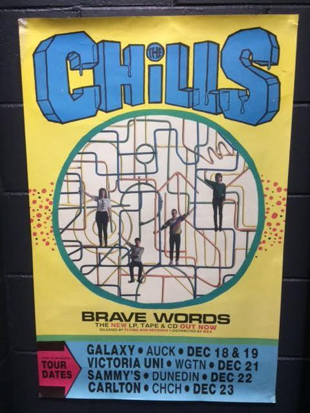CHILLS THE-BRAVE WORDS TOUR ORIGINAL GIG POSTER