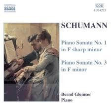SCHUMANN- PIANO SONATAS NO 1 AND 3 CD VG