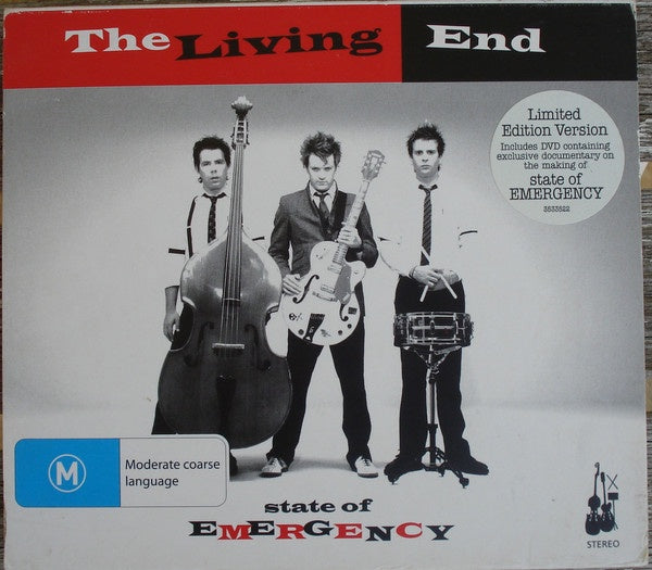 LIVING END THE-STATE OF EMERGENCY CD+DVD VG