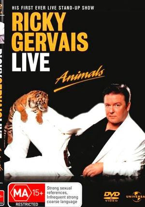 GERVAIS RICKY-ANIMALS DVD VG