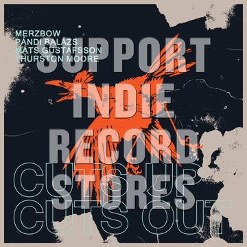 MERZBOW, PANDI, GUSTAFSSON & MOORE-CUTS UP CUTS OUT GOLD VINYL LP *NEW*