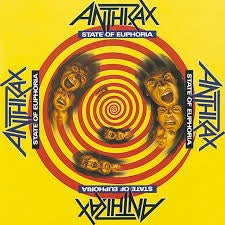 ANTHRAX-STATE OF EUPHORIA LP NM COVER VG+