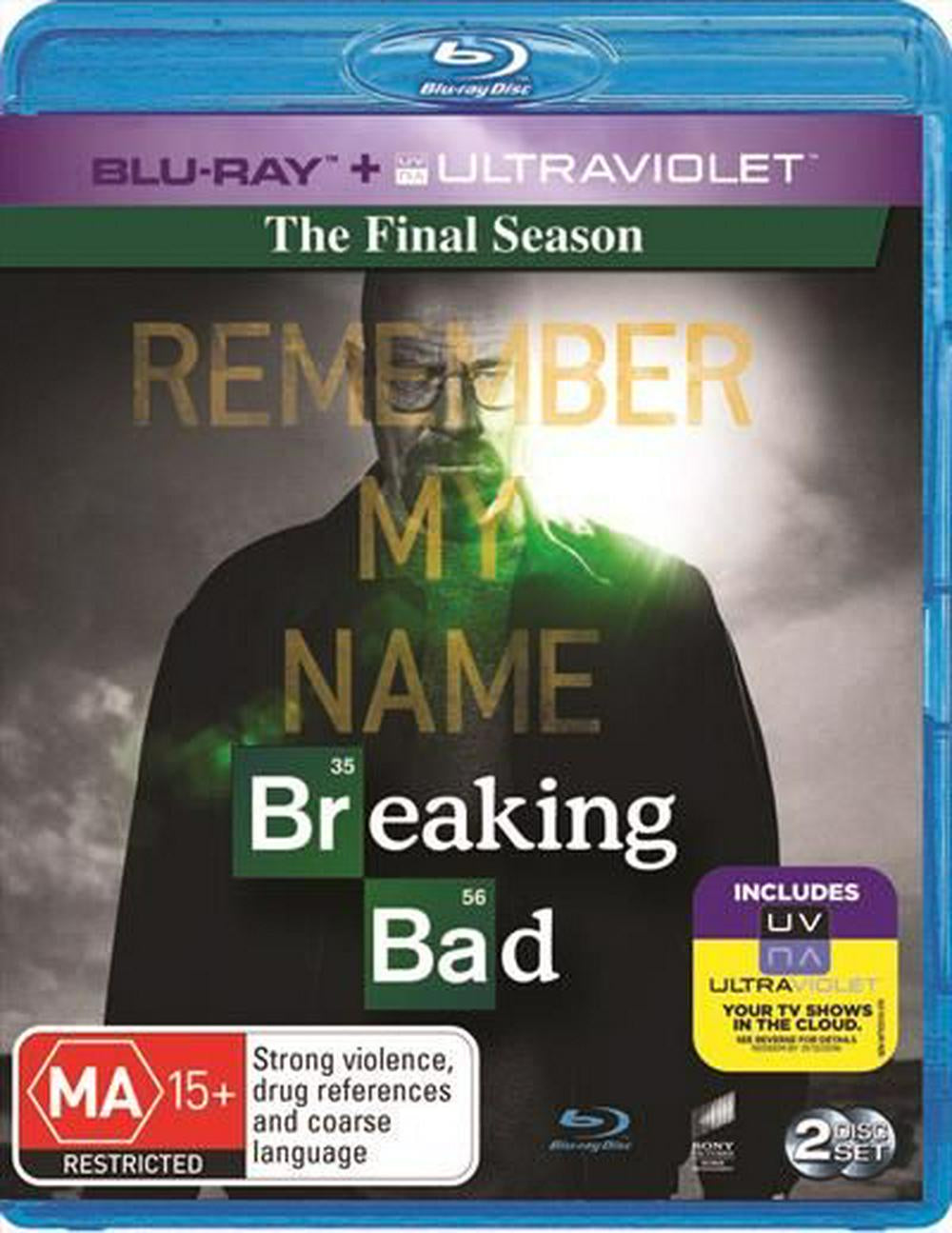 BREAKING BAD THE FINAL SEASON R16 2BLURAY+ULTRAVIOLET VG