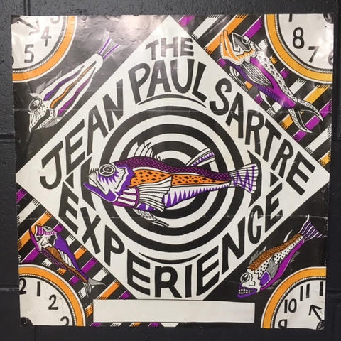 JEAN PAUL SARTRE EXPERIENCE FISH GRAPHIC ORIGINAL GIG POSTER