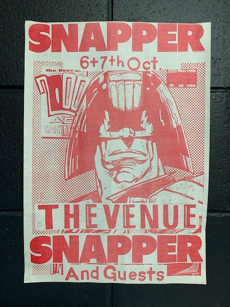 SNAPPER-THE VENUE RED ORIGINAL GIG POSTER