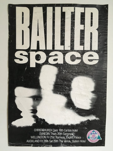 BAILTER SPACE-ORIGINAL NEW ZEALAND TOUR POSTER
