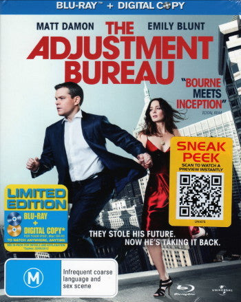 ADJUSTMENT BUREAU THE BLURAY+DVD VG