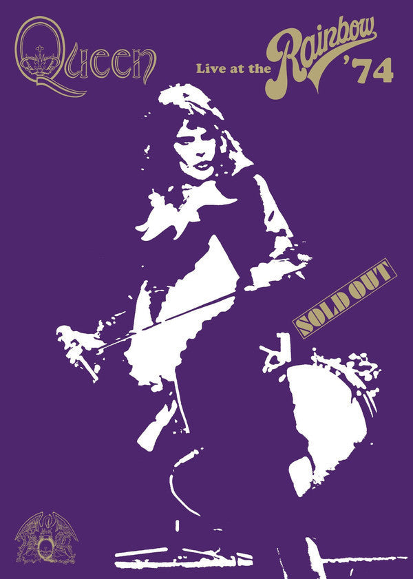QUEEN-LIVE AT THE RAINBOW '74 DVD VG+