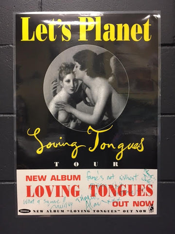LET'S PLANET AUTOGRAPHED POSTER LAMINATED