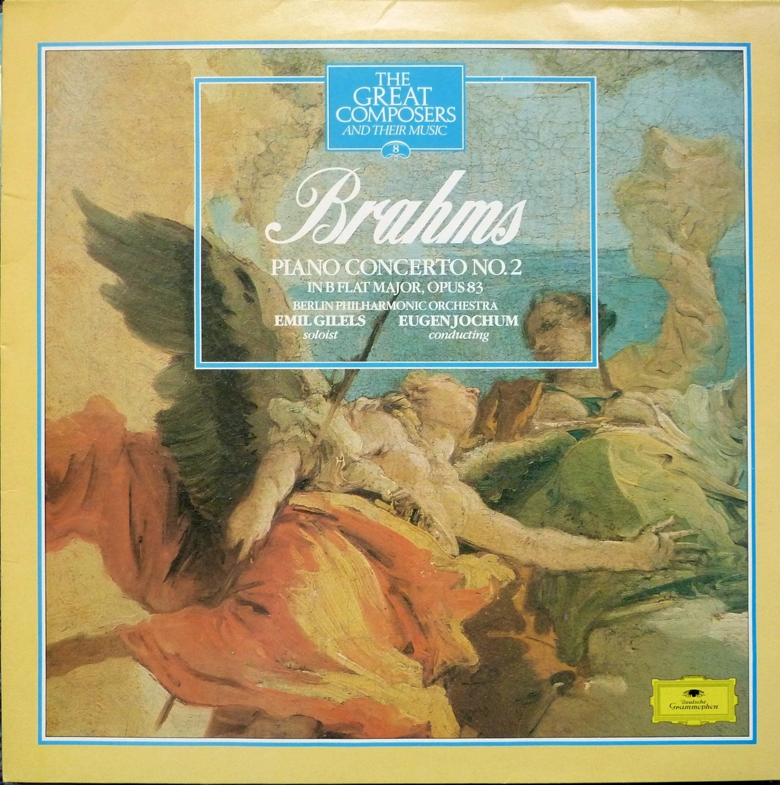 BRAHMS-PIANO CONCERT NO 2 CD VG