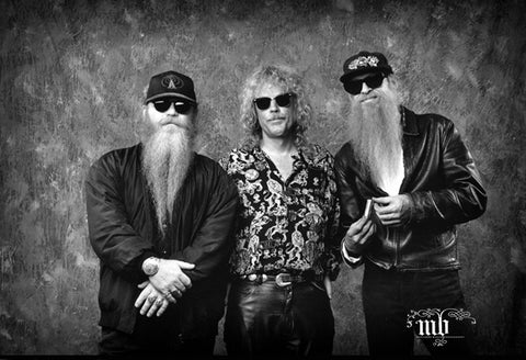 ZZ TOP - LIMITED EDITION MARYANNE BILHAM PHOTOGRAPHIC PRINT *NEW*