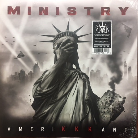 MINISTRY-AMERIKKANT GREY & BLACK SWIRL VINYL LP *NEW*