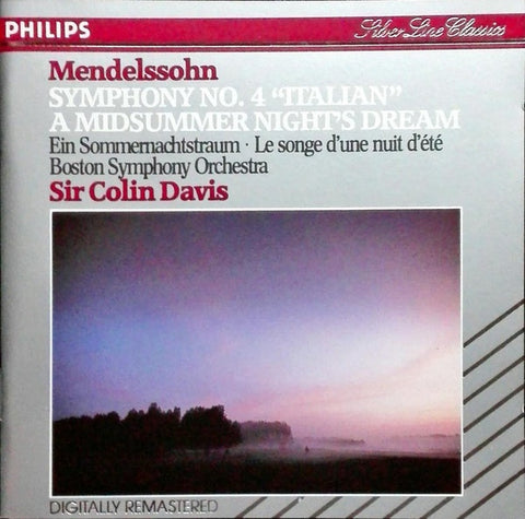 MENDELSSOHN-SYMPHONY NO. 4 & A MIDSUMMER NIGHTS DREAM CD VG