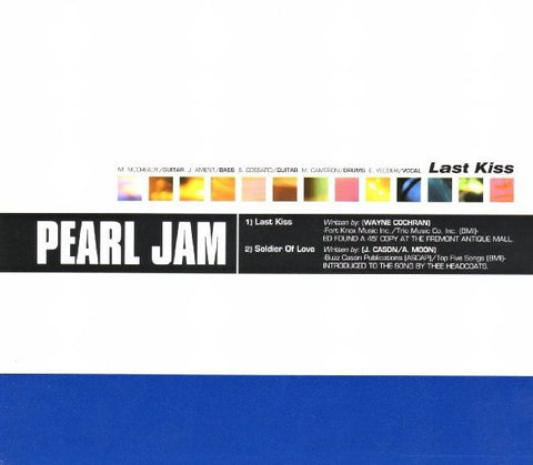 PEARL JAM-LAST KISS CD SINGLE VG