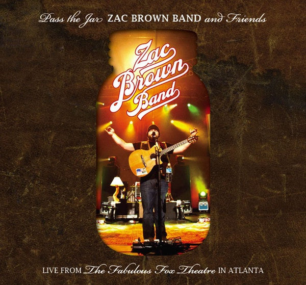 BROWN ZAC BAND & FRIENDS-PASS THE JAR 2CD + DVD VG